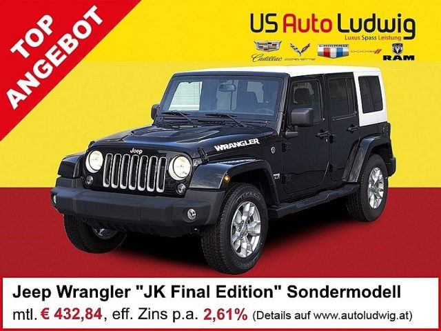 "Jeep Wrangler Unlimited ""JK Final Edition"" 2,8 CRD Aut. **limitiertes Sondermodell** 75th Anniversary bei US-Cars Ludwig in 2x in Wien (Inh. Autoludwig Vertrieb GmbH)"